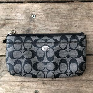 Coach black and dark grey wallet
